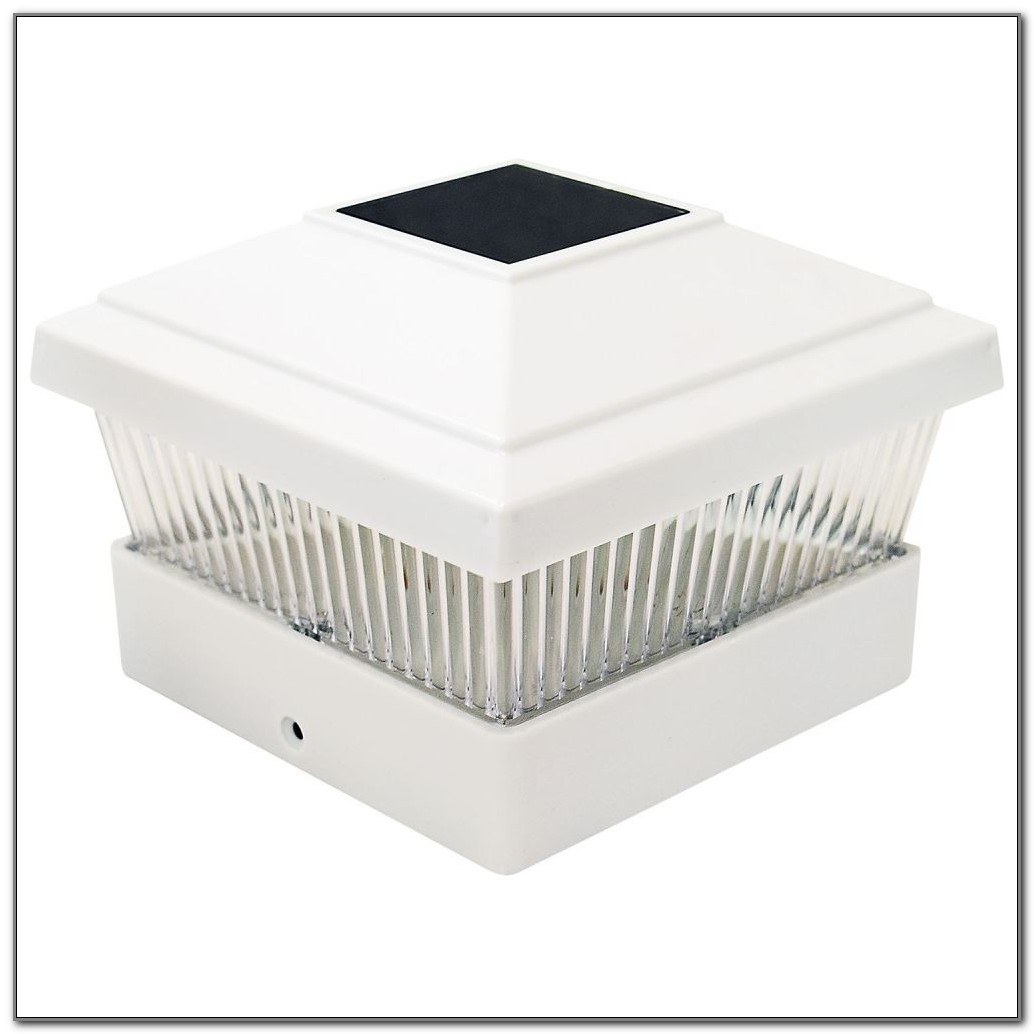 Solar Deck Post Lights White