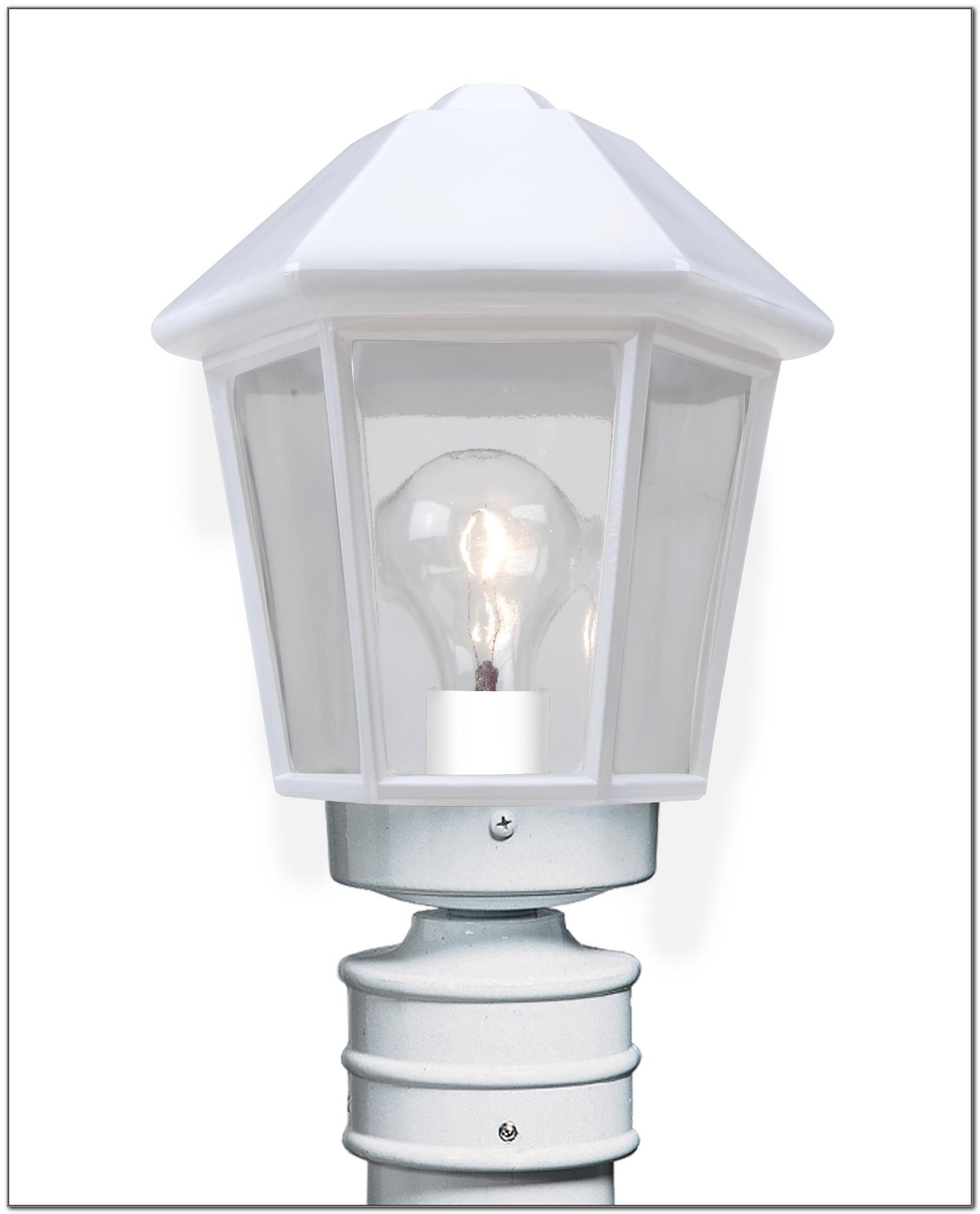 Solar Lamp Post Light Fixture White