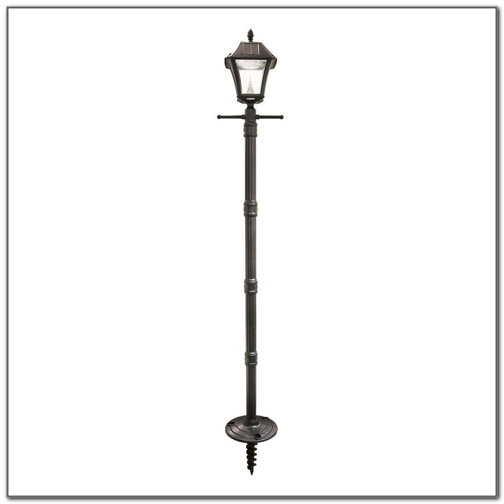 Solar Lamp Post With Planter Base