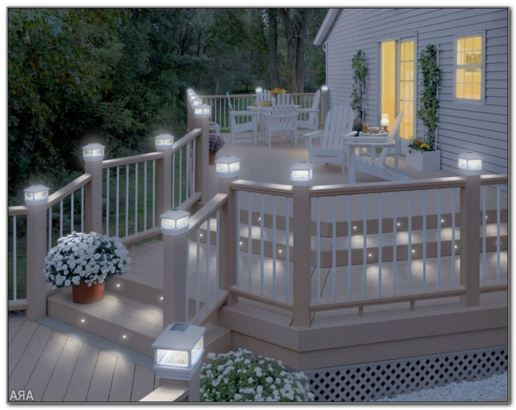 Solar Lighting For Deck Post
