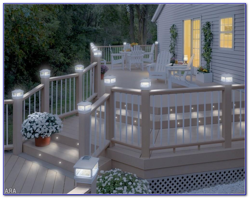 Solar Powered Deck Post Lights