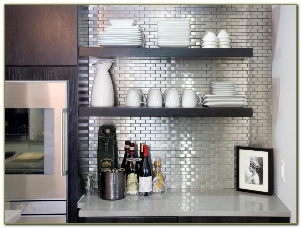 Stainless Steel Backsplash Tiles Self Adhesive