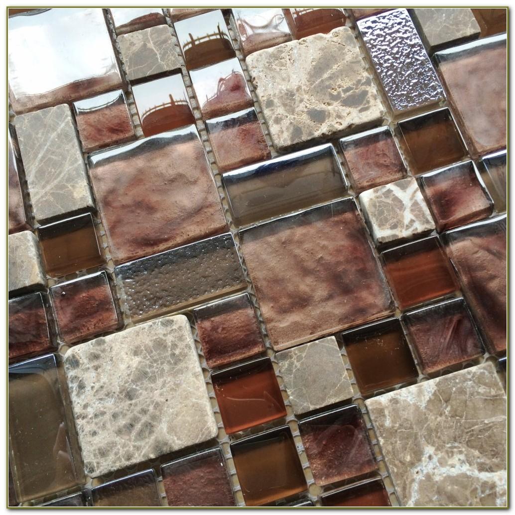 Stone Glass Mosaic Tile Backsplash