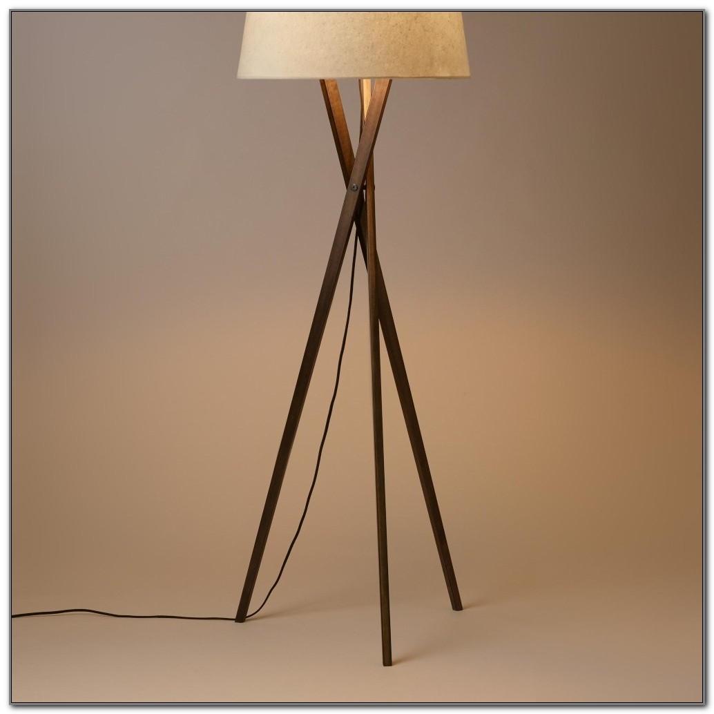Studio Wood Tripod Floor Lamp