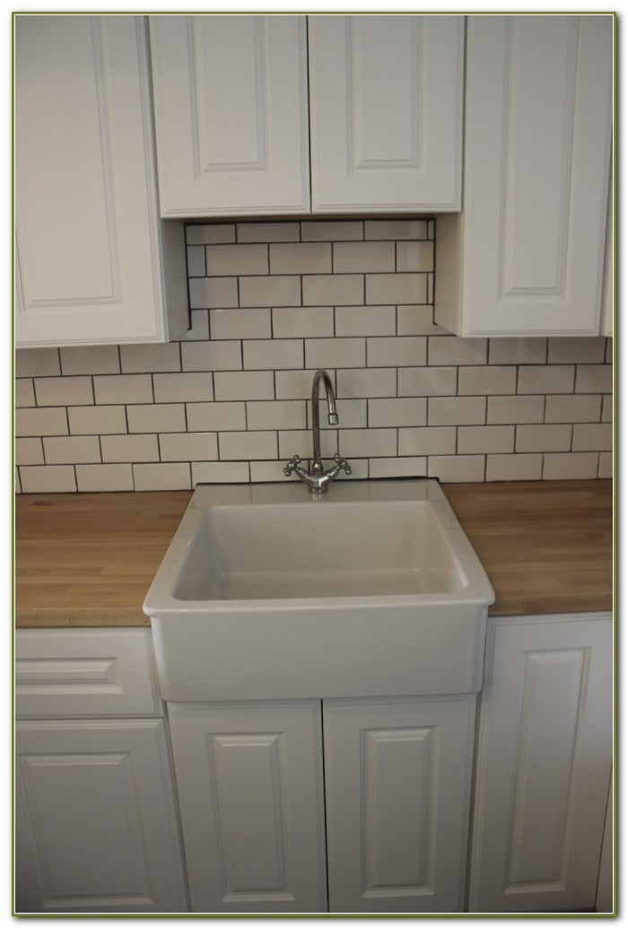 Subway Tile Kitchen Backsplash Grey Grout