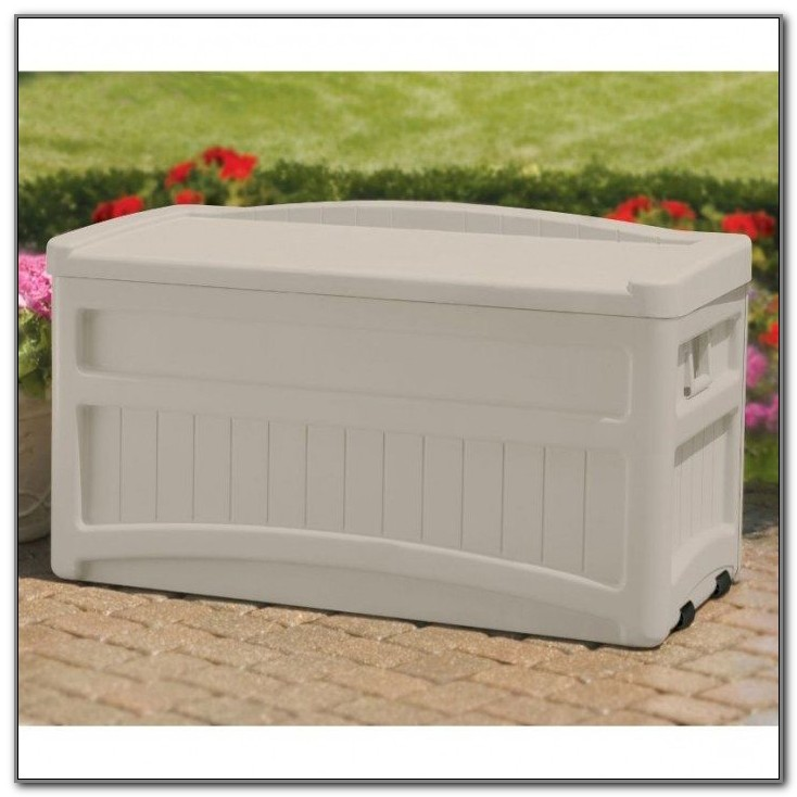 Suncast Deck Storage Box With Seat