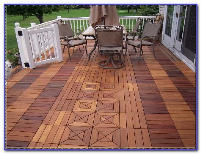 Teak Wood Deck Tiles