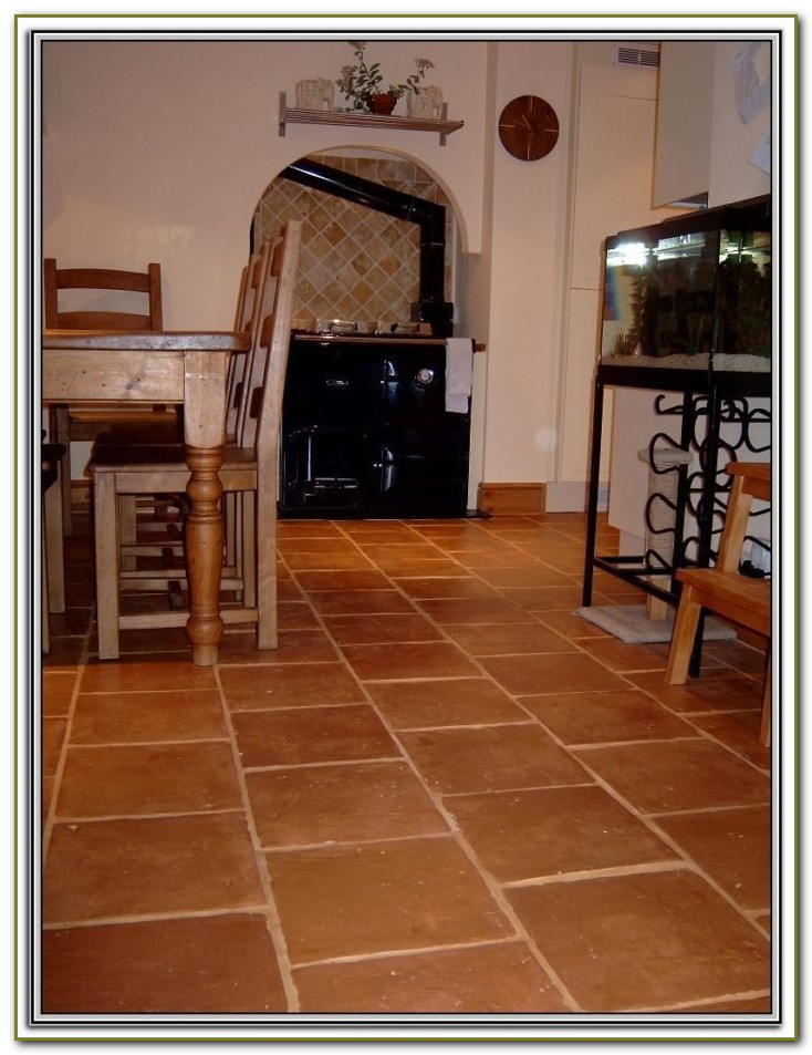 Terracotta Floor Tile Living Room