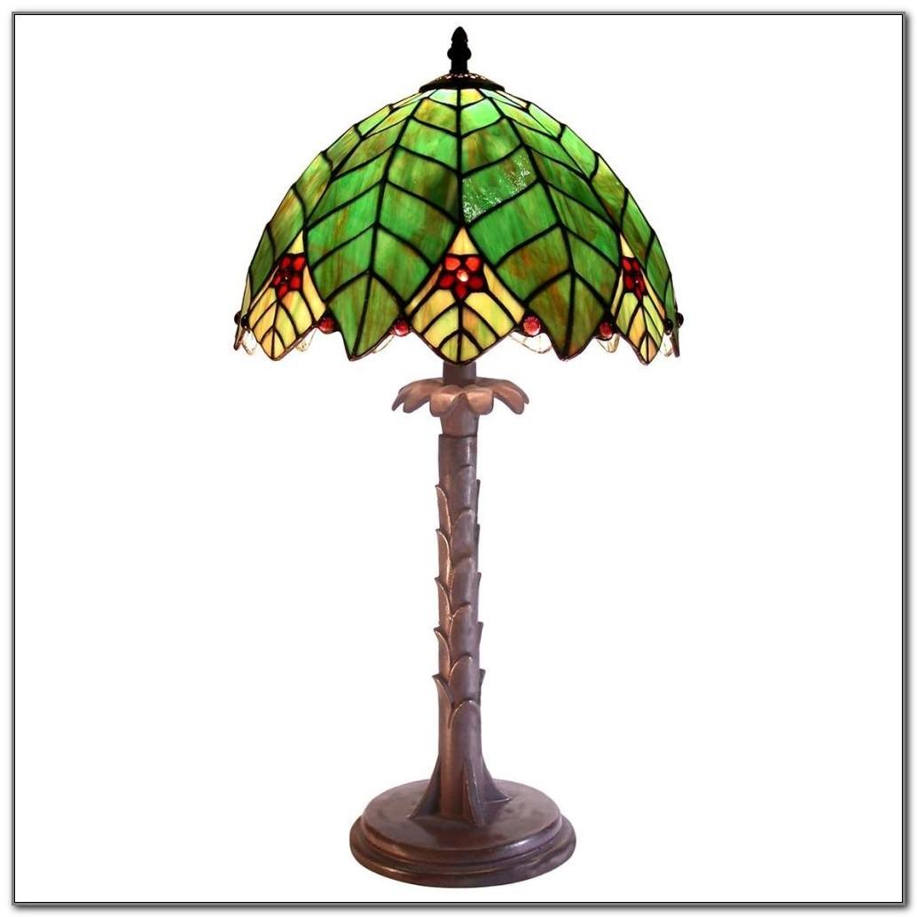 Tiffany Palm Tree Table Lamp