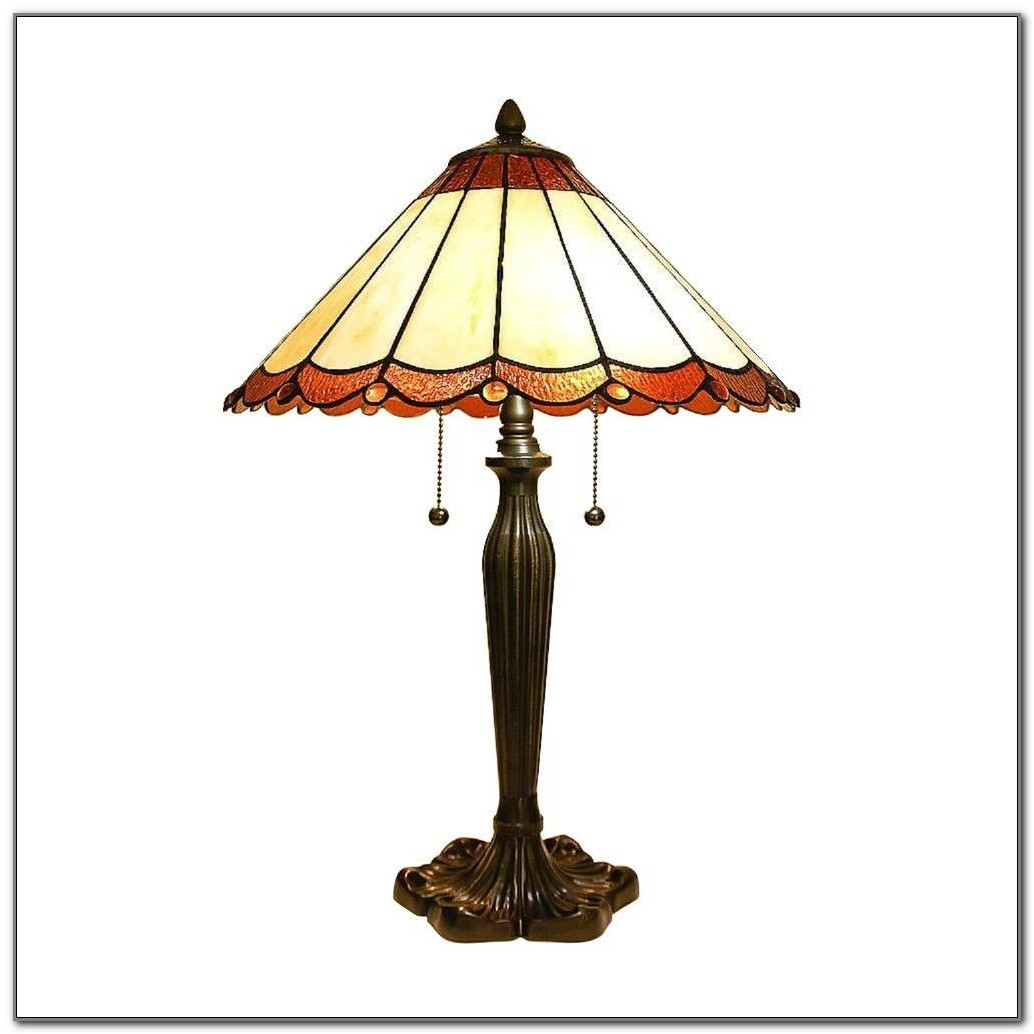 Tiffany Red Dragonfly Table Lamp