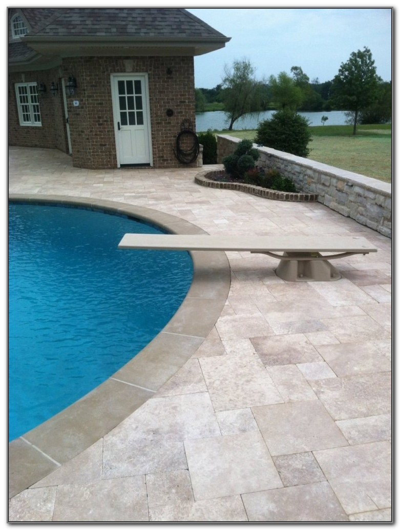 Travertine Pavers For Pool Decks