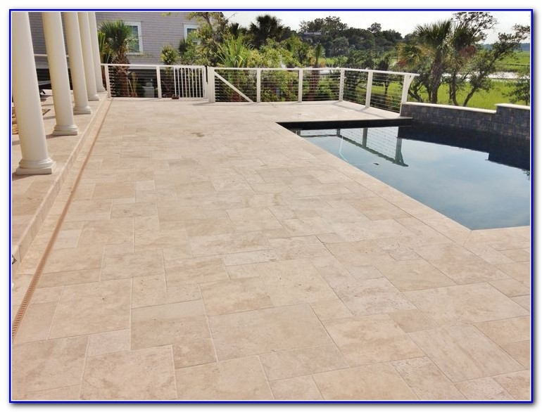Travertine Pool Deck Images