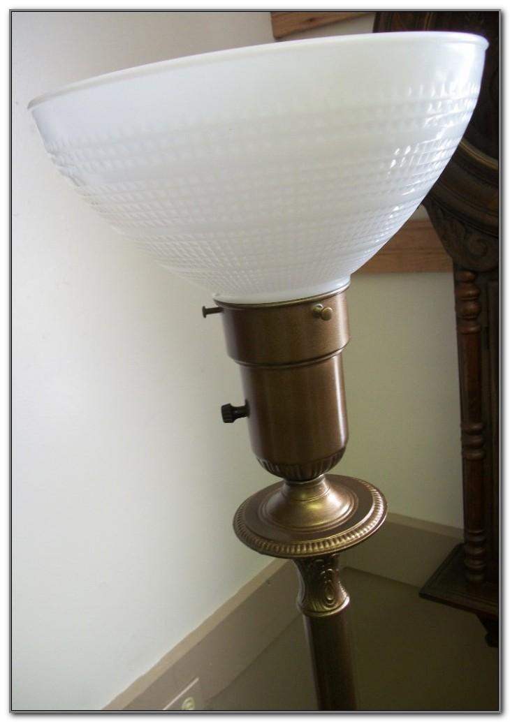 Vintage Antique Torchiere Floor Lamp
