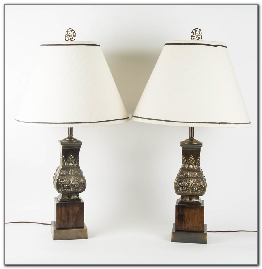 Vintage Frederick Cooper Asian Lamps