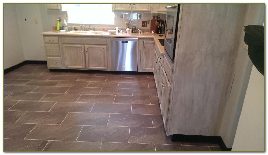 Vinyl Tile With Grout