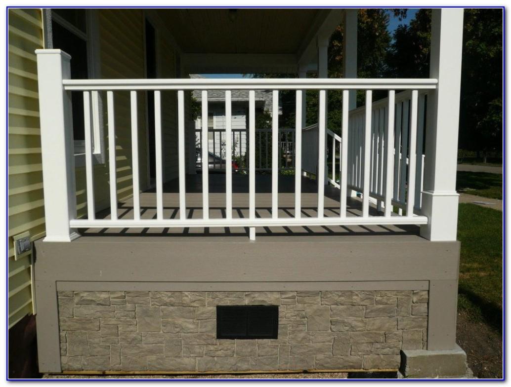 White Aluminum Deck Railing