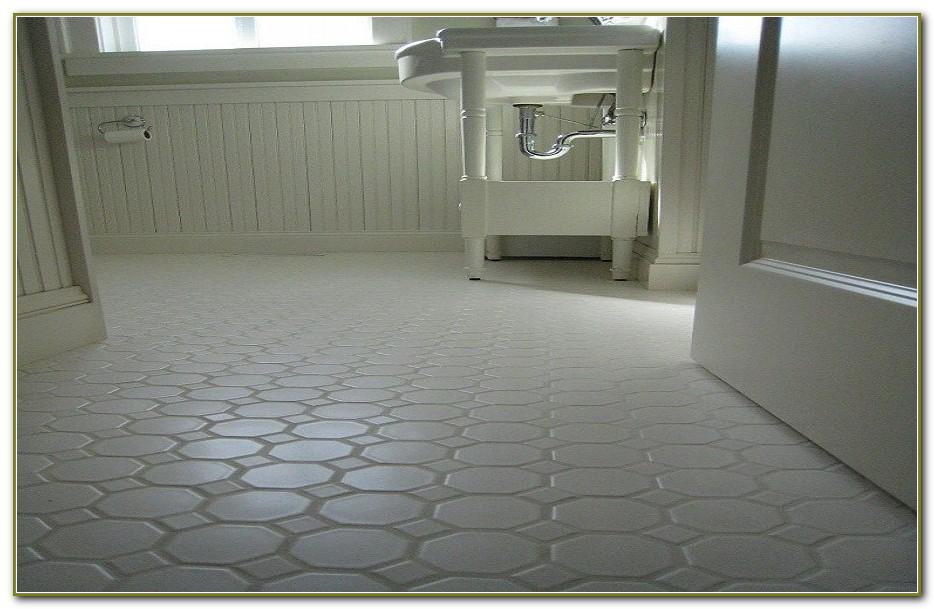 White Hexagon Tile Bathroom Floor