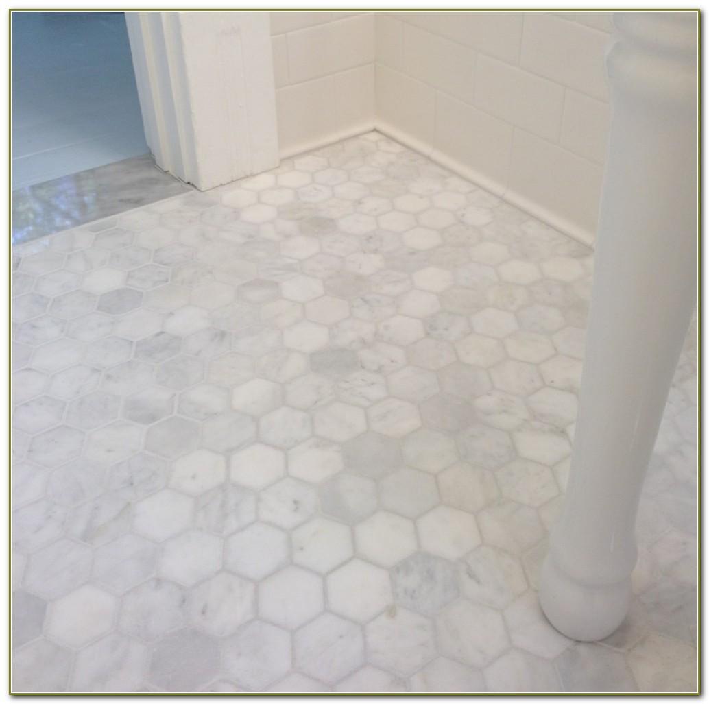 White Marble Hexagon Floor Tile