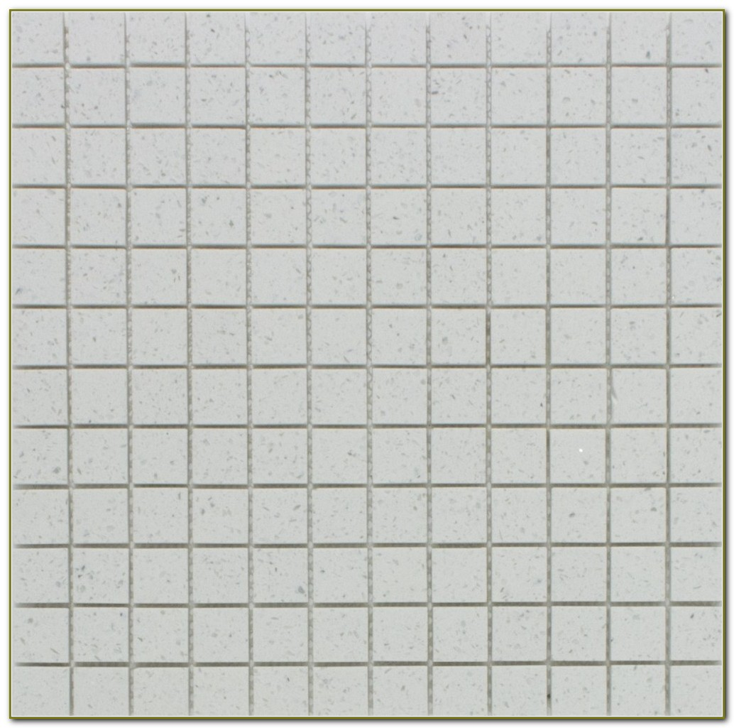 White Mosaic Floor Tiles