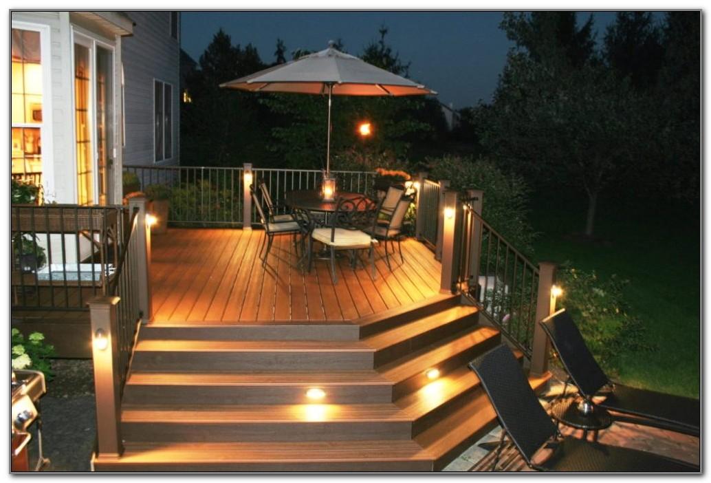 White Solar Deck Step Lights