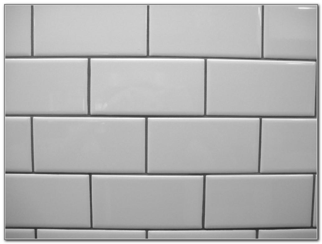White Subway Tile Light Grey Grout