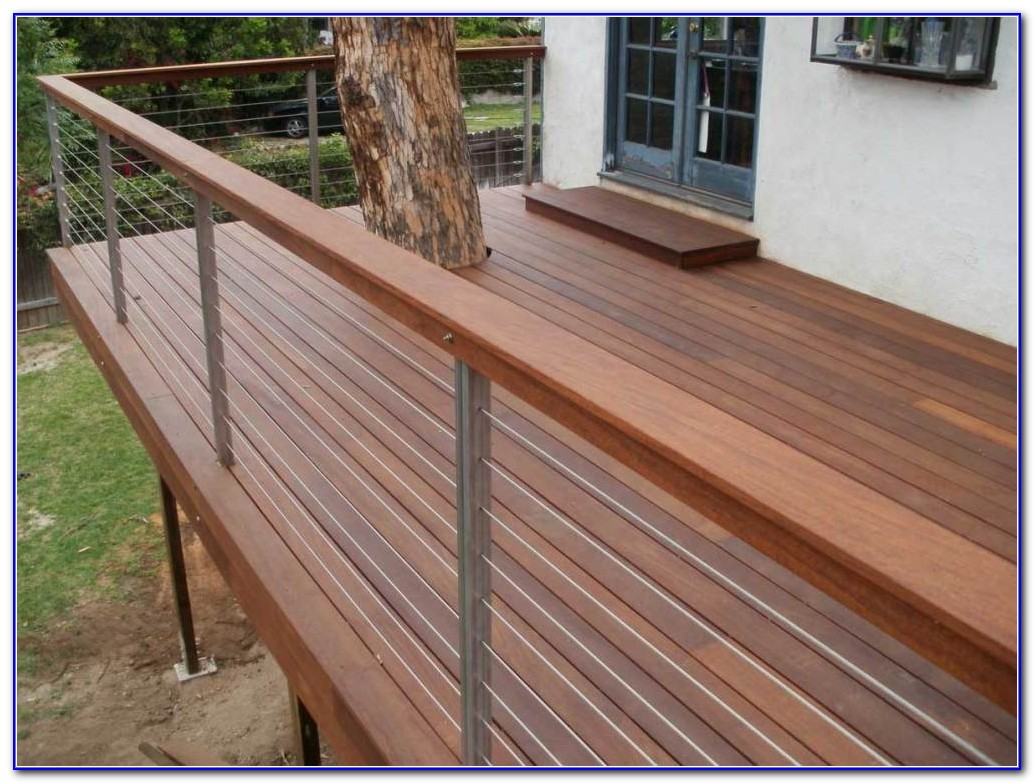 Wood Deck Cable Railing