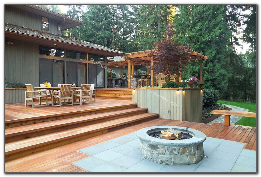 Wood Deck Fire Pit Protection