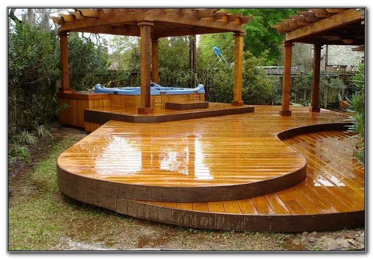 Wood Deck For Mobile Home