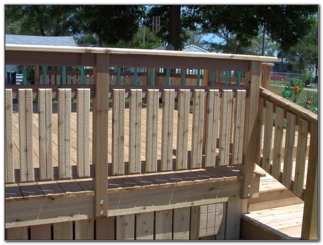 Wooden Deck Railing Ideas