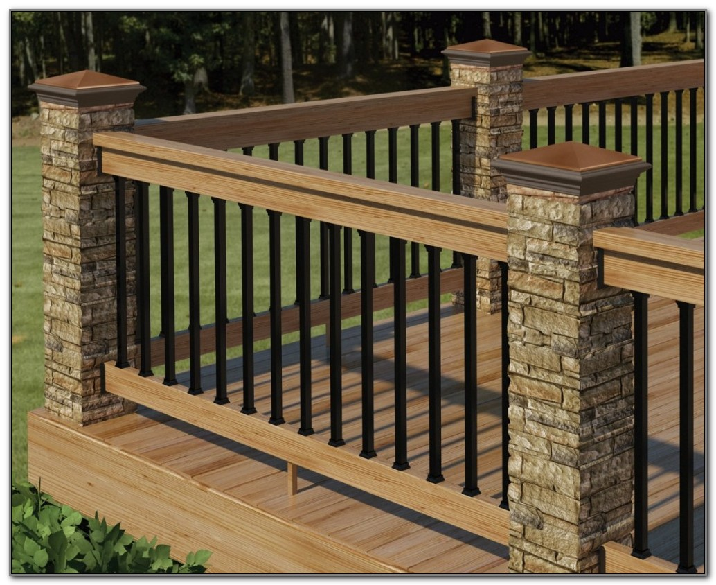 Wooden Deck Railing Plans