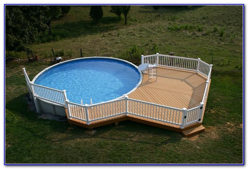 Wooden Pool Decks For Above Ground Pools