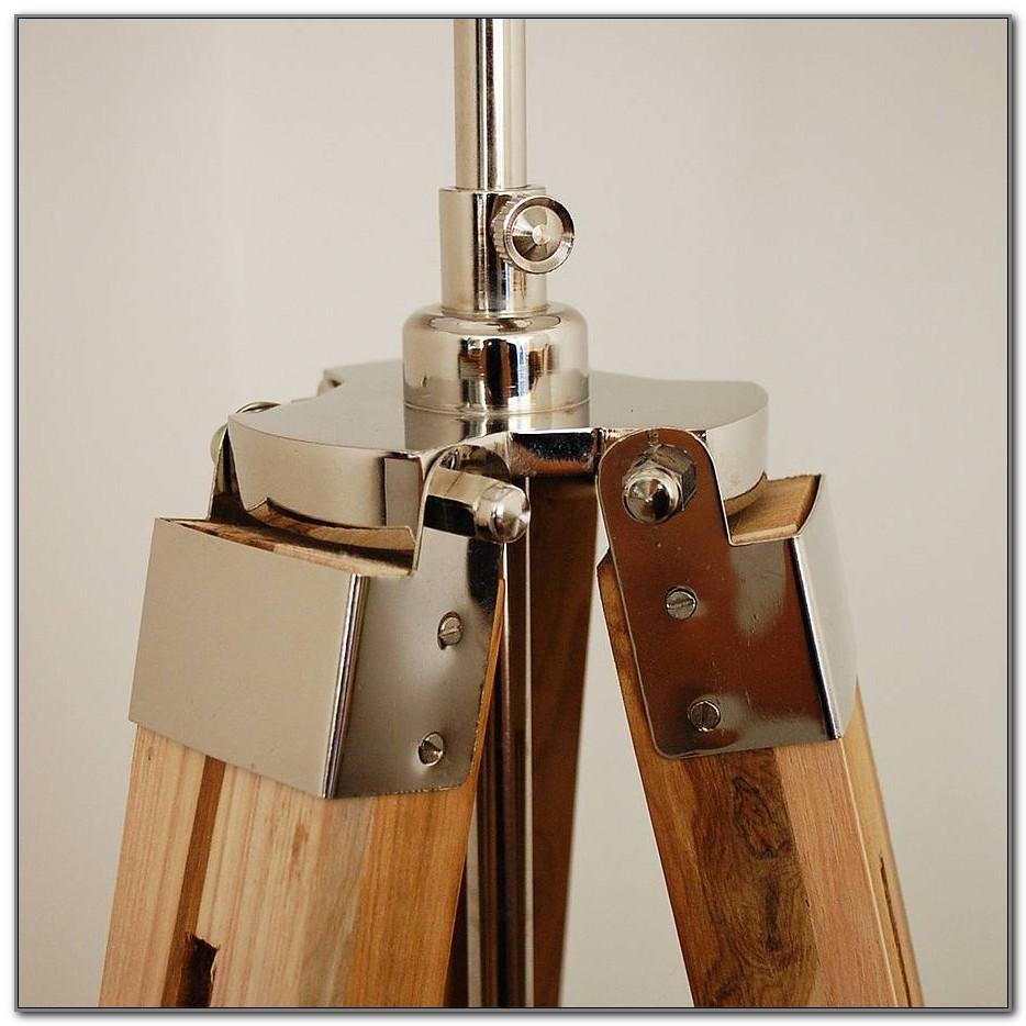 Wooden Tripod Floor Lamp Base