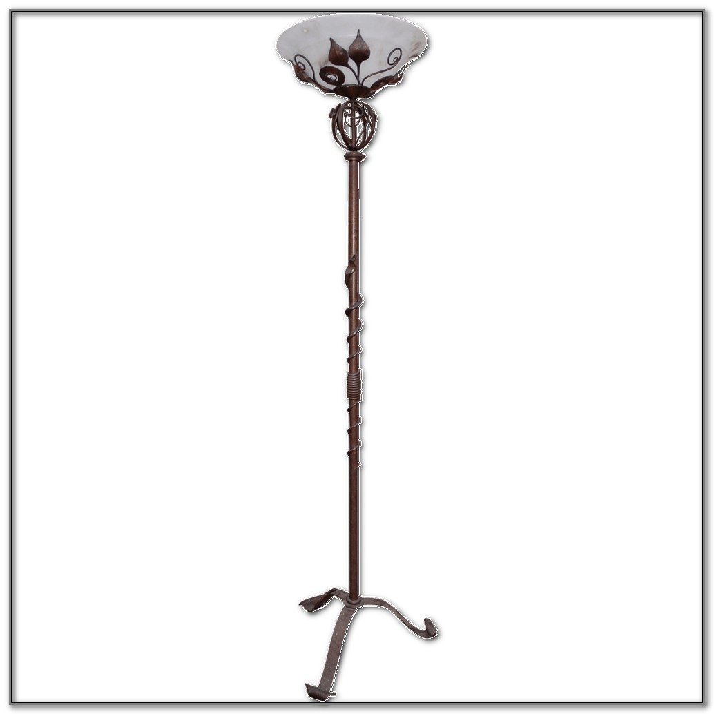 Wrought Iron Floor Lamps Torchiere