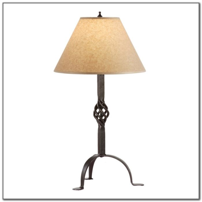 Wrought Iron Table Lamps
