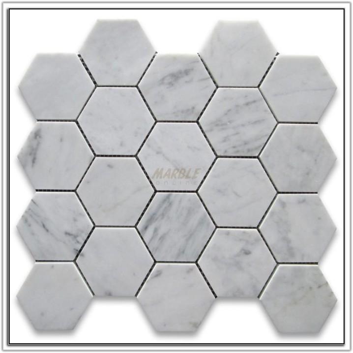 2 Inch Hexagon Tile Blue