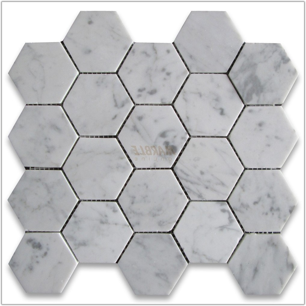 3 Inch Hexagon Marble Tile