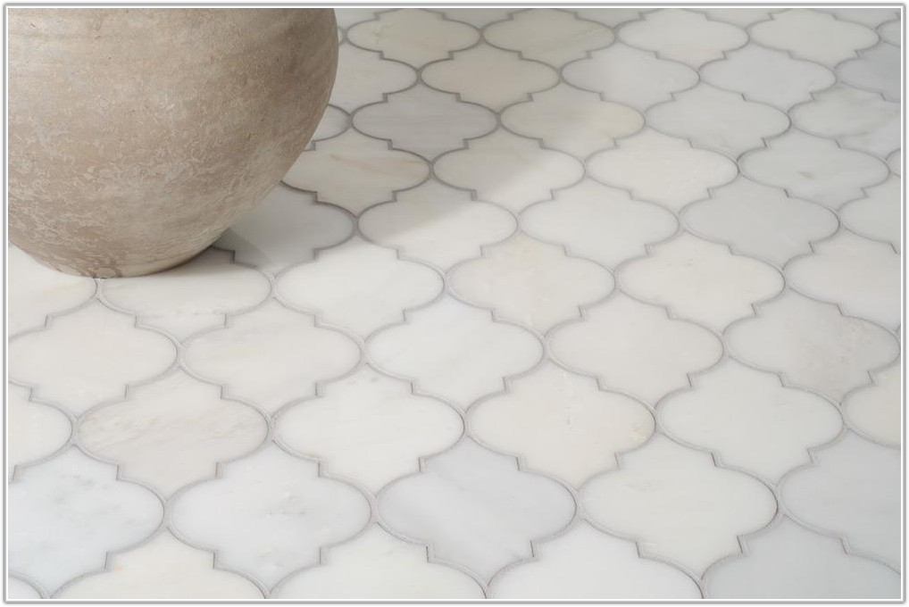 Accent Tile For White Bathroom