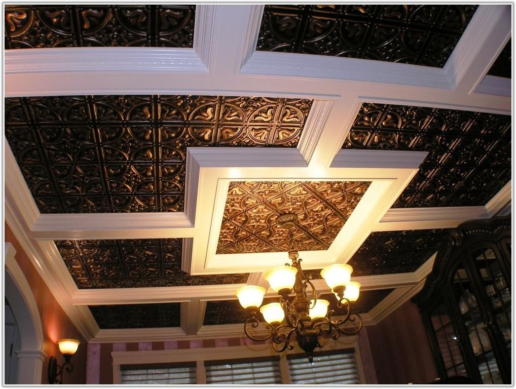 Antique Copper Faux Tin Ceiling Tiles