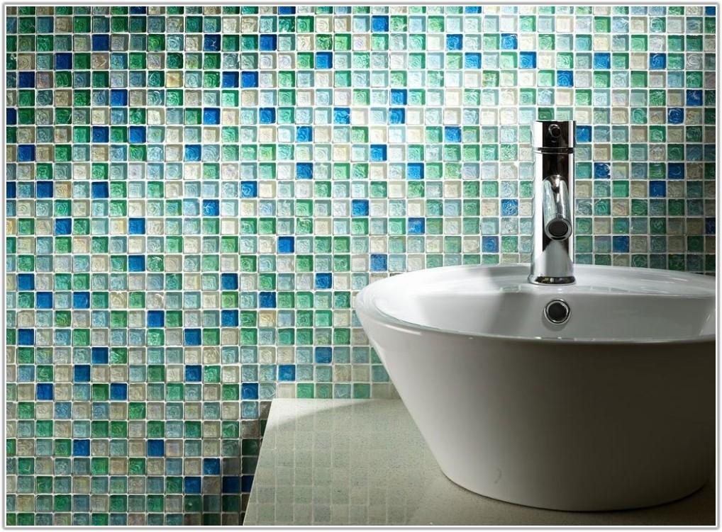 Aqua Blue Glass Mosaic Tile