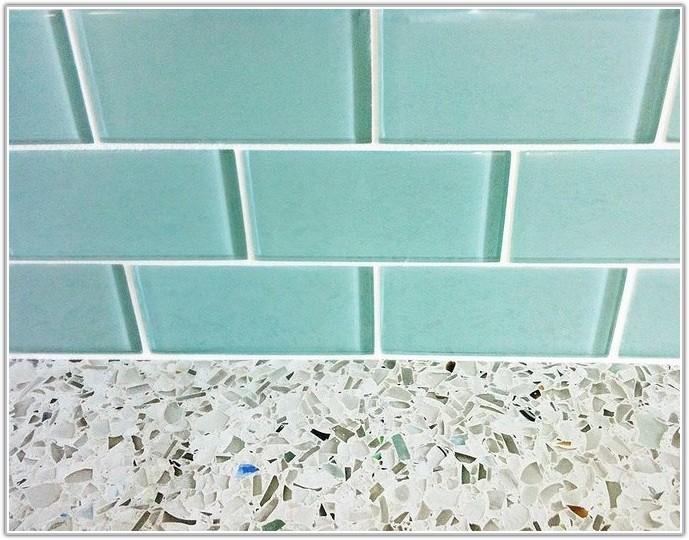 Aqua Blue Glass Subway Tile