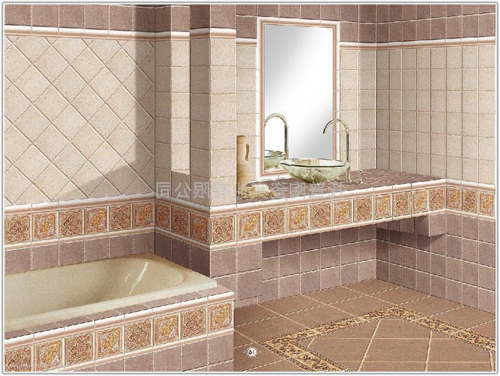Bathroom Floor And Wall Tile Designs