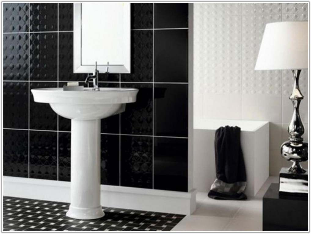 Bathroom Tile Ideas Black And White