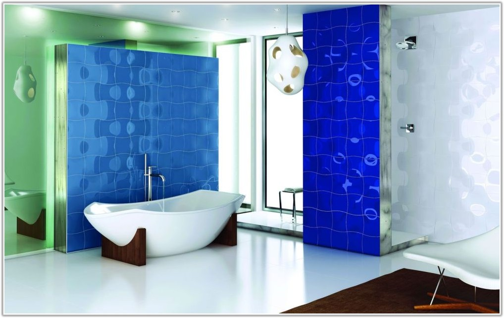 Bathroom Tile Ideas White Blue