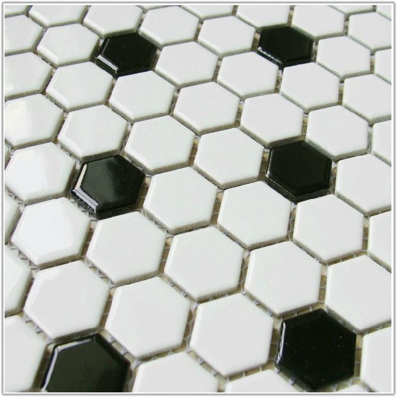Black And White Ceramic Floor Tile