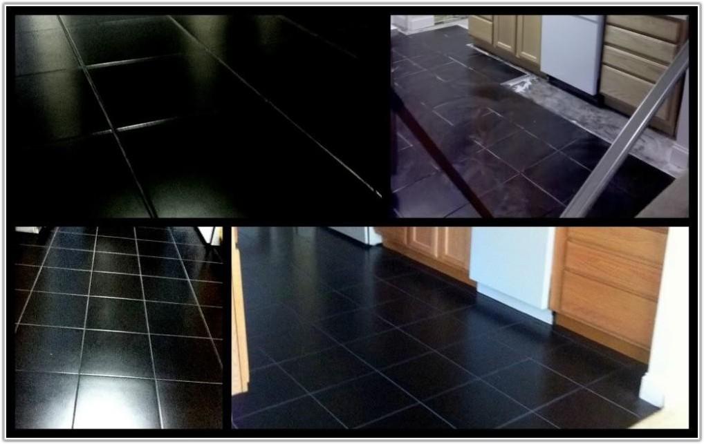 Black And White Checkered Ceramic Floor Tile