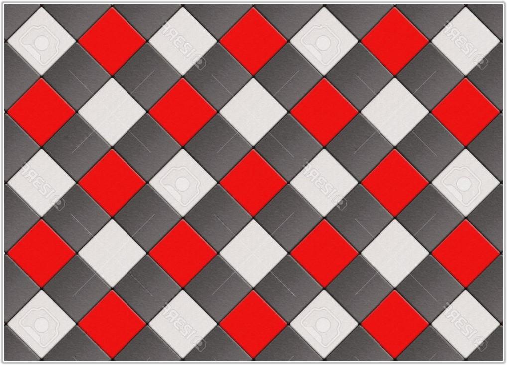 Black And White Checkered Floor Tiles