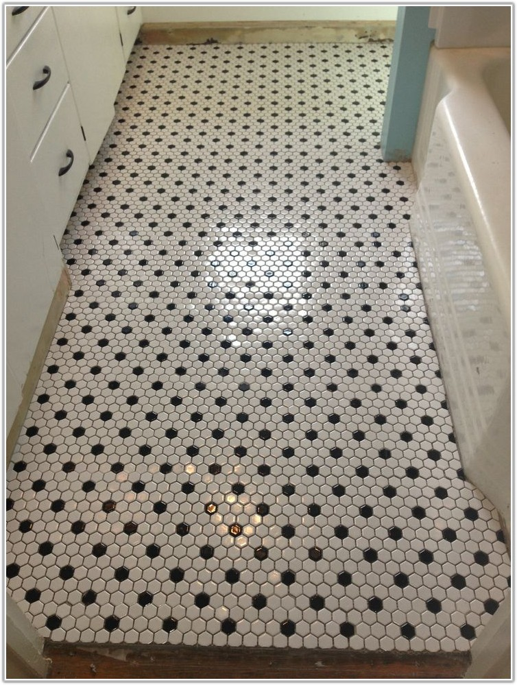 Black And White Hex Floor Tile