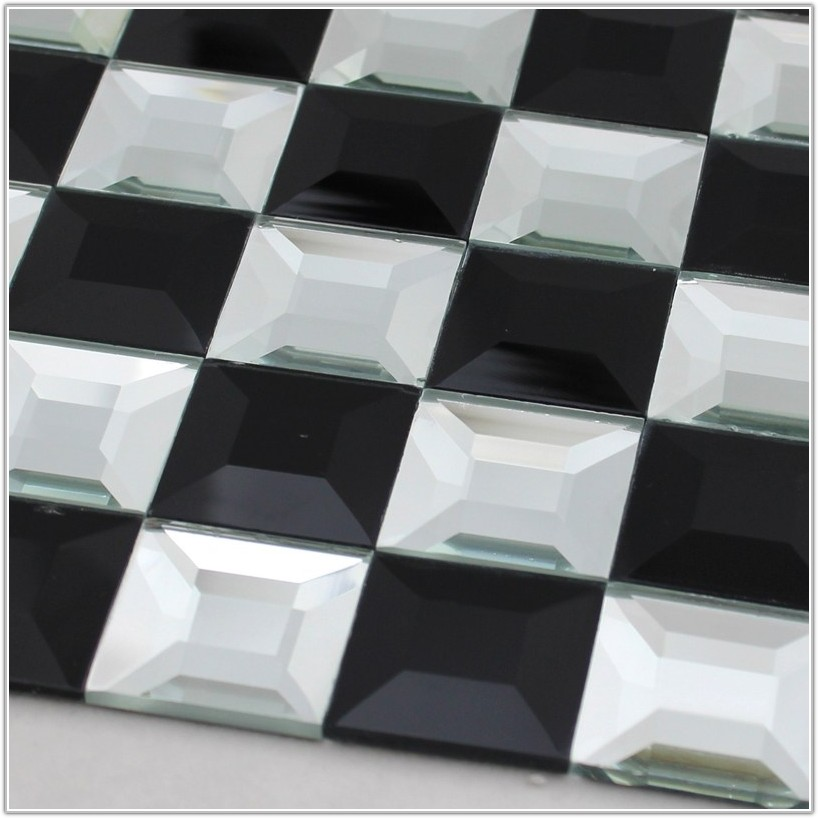 Black And White Mosaic Bathroom Floor Tiles