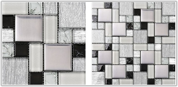Black And White Mosaic Wall Tiles