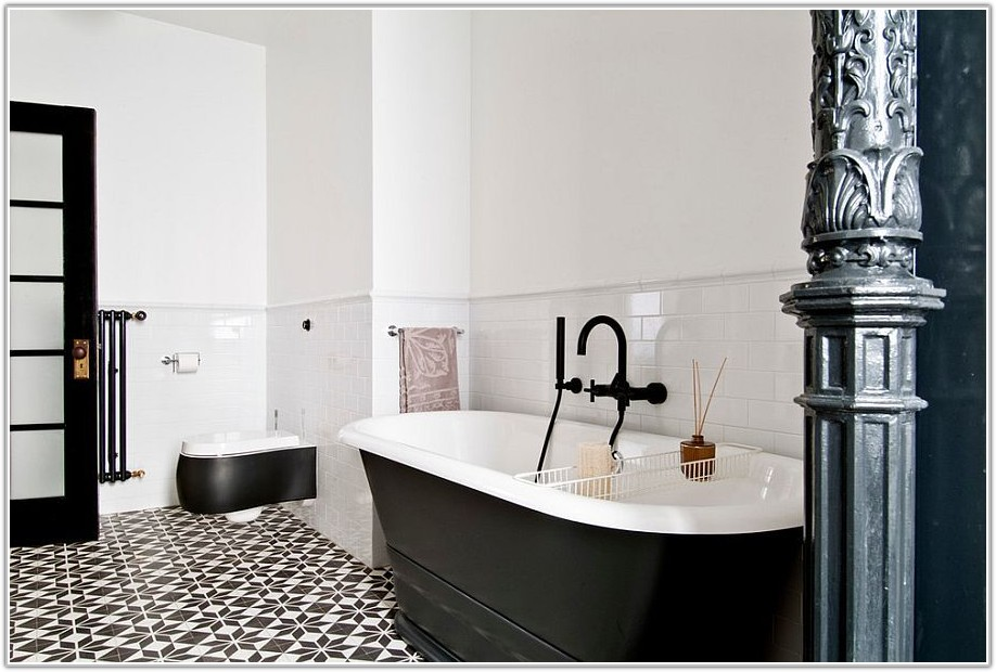 Black And White Tile Bathroom Images